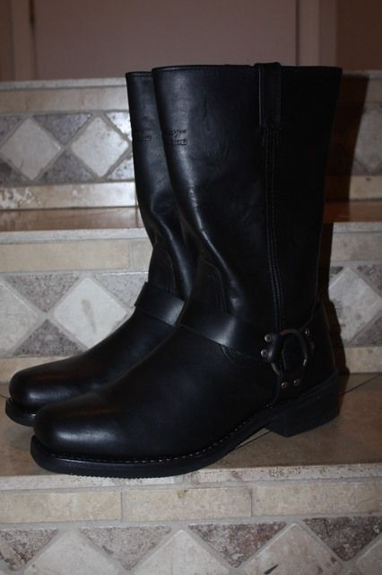Harley Davidson Mens Black Motorcycle Harness Boots 13 D MINT Frye 12R