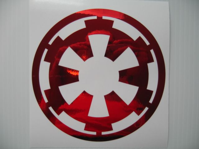 Red Chrome Star Wars Galactic Empire Vinyl Decal