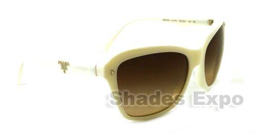 NEW PRADA SUNGLASSES SPR 24N WHITE 7S3 6S1 SPR24N AUTH