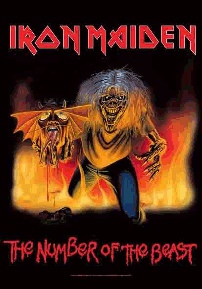 New IRON MAIDEN Cloth Poster Flag   Number Beast 82 83