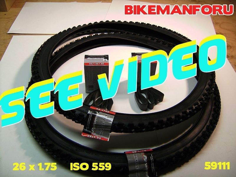 Bicycle 26x1.75 Street Bike 2 Tire 2 Tube 2 Rimstrip