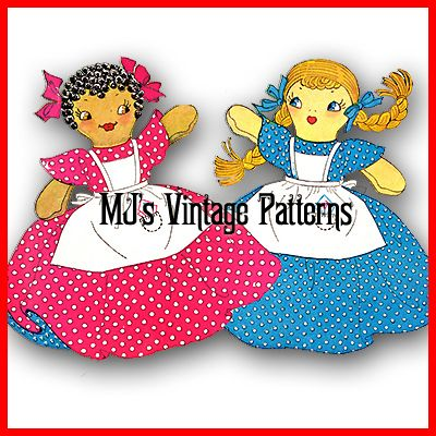 Knitting Pattern For Upside Down Doll : Vintage Upside Down Doll Pattern ~ Topsy & Eva
